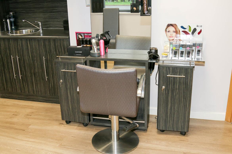 Chair in hair studio