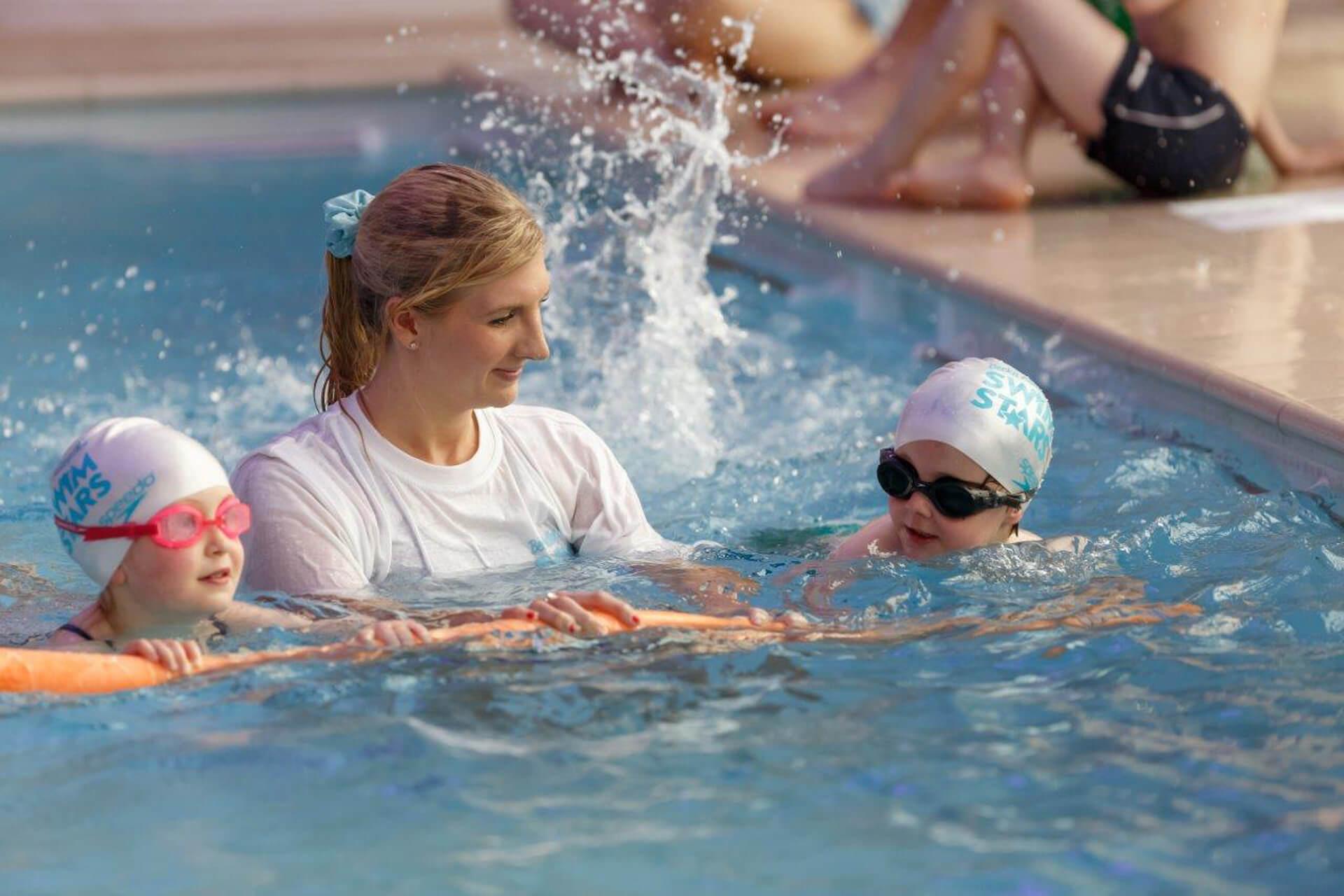 Swim stars with Rebecca