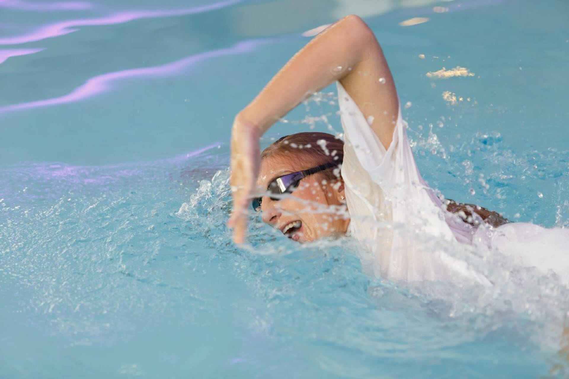 Rebecca in pool
