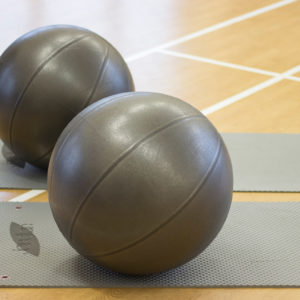 Gym balls and mats